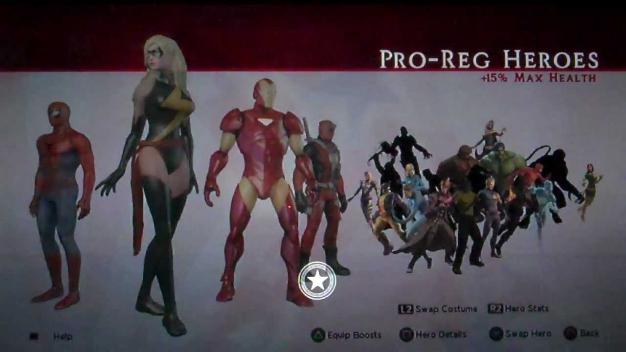Costume Marvel Ultimate Alliance Marvel Ultimate Alliance 2 lp