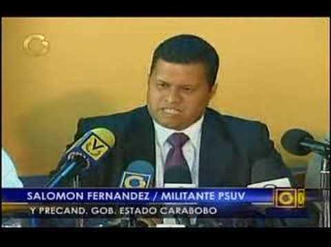 Salomón Fernández.  hijo ilegítimo de Hugo Chávez