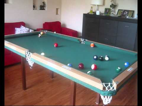 Home made pool table, first test
