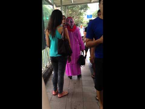 Malay Woman Fights & Whacks Husband In Public video