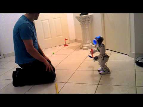 NAO Robot plays golf - Lesson 1
