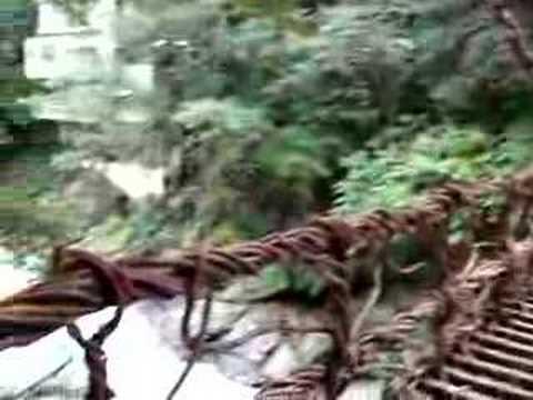 祖谷かずら橋を渡る - その1