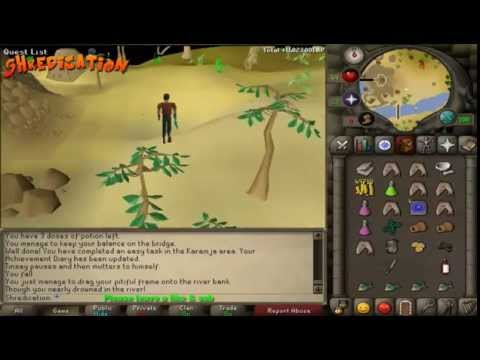 Old school runescape – Tai Bwo Wannai trio – 2007 quest guide [Commentary]