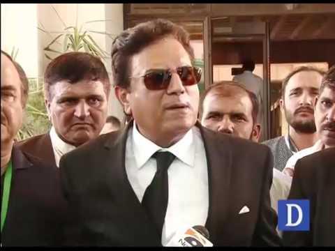 Naeem Bukhari media talks outside Supreme court