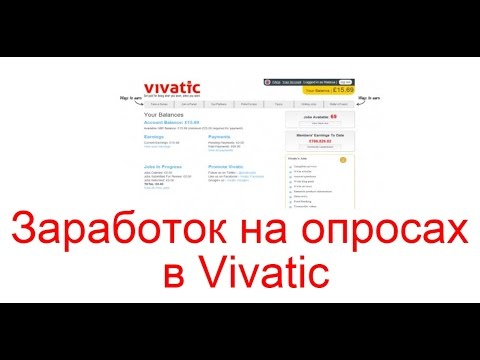 Заработок на опросах в Vivatiс, зарубежный опросник