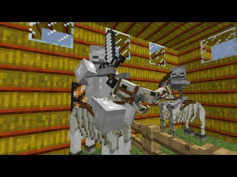 MineCraft 1.6 SnapShot 13w22a Undead Knights. Horse Riders. Mobs!