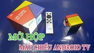 [Mở Hộp - Test] Máy chiếu Mini Android TV Smart Box - DooGee Smart Cube P1