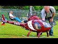 BIG RC EXEC-90 ROTORWAY SCALE MODEL ELECTRIC HELICOPTER FLIGHT DEMONSTRATION
