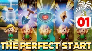 How to Have the PERFECT Start in Link's Awakening Switch - 100% Walkthrough 01