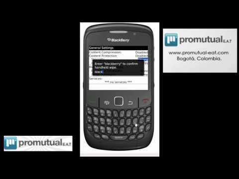 WIPE: como borrar o formatear la BlackBerry 8520 9000 8900 9300 9700 9780