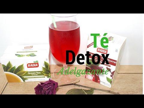 Agua DETOX  de Té Verde y flor de Jamaica ♦ consaboraKaFé