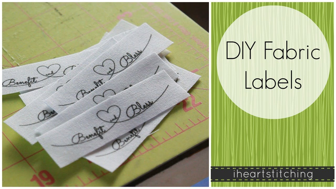 Diy fabric labels youtube for Where can i create my own shirt