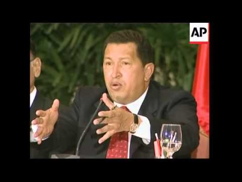 Chavez inaugurates petrol stations, on Colombia crisis