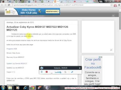actualizar al 4.1.1 coby Kyros MID8127 MID7022 MID1125 MID1126