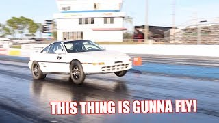 The Mr2 Did It's First Wheelie!