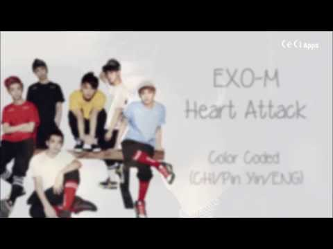 Exo-m - Heart Attack (color Coded Chinese pinyin eng Lyrics) video
