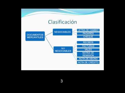 Documentos Mercantiles:Clasificacion e importancia