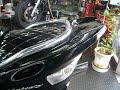 ヤマハ マジェスティC ROSSOメガホンステンマフラー エナメルシート フロントマスク 250cc ブラック バイク買取MCG福岡