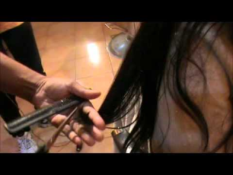 How to trim long hair to remove split ends (how to rid off split ends)