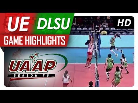 UAAP 78 WV: UE vs DLSU Game Highlights
