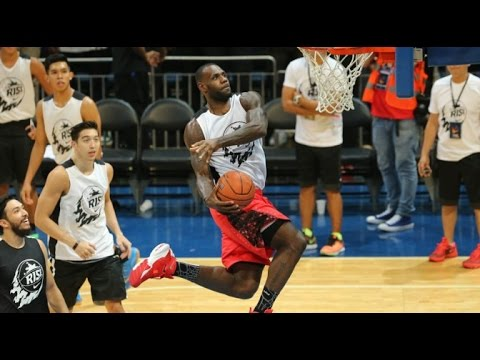 LeBron James' DUNK SHOW in Philippines during 2015 Nike RISE event