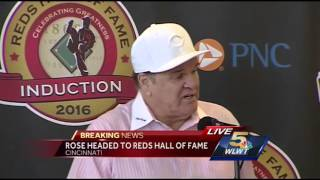 Watch: Reds announce Pete Rose's induction into Reds' Hall of Fame