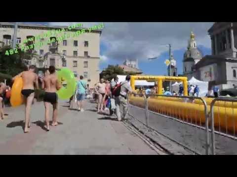 Водяная горка, Water Hill, в Харькове 300 метров, Соборный спуск, 9 июля 2016, 2