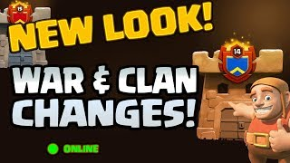 CLASH OF CLANS UPDATE: LOADS of CHANGES to CLANS & WAR!