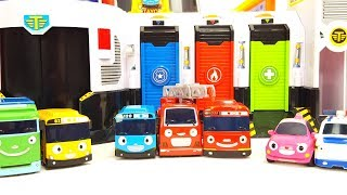 Tayo the little bus garage Emergency Center Play Set Police Station Tayo & Friends