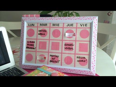 C mo hacer un organizador semanal para la escuela - Ver como hacer manualidades ...