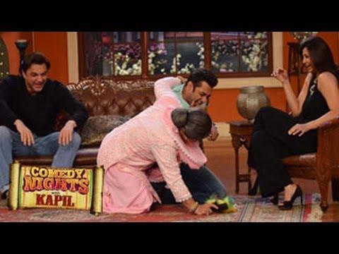 Salman Khan Gets MOLESTED on Comedy Nights with Kapil 19th January 2014