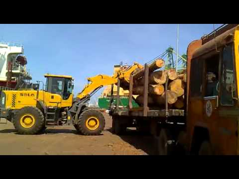 SDLG  5T Loader at Tuticorin Port log handling video.mp4
