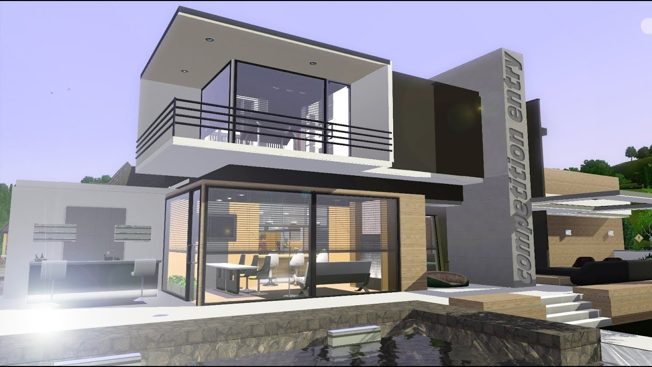 Competition entry building house modern design youtube for Builder home
