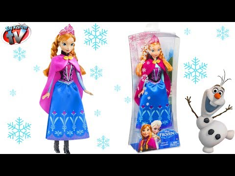 Disney Frozen: Anna Of Arendelle Doll Toy Review. Mattel