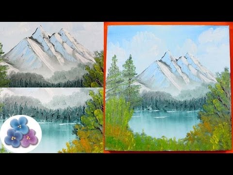 Como hacer paisaje nevado al oleo facil oil painting - Paisajes nevados para pintar ...