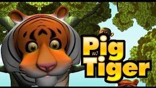 Manchadi Story Pig and Tiger | Malayalam animated short story for kids