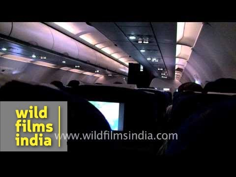 Air India: Inside the aircraft and New Delhi from the air