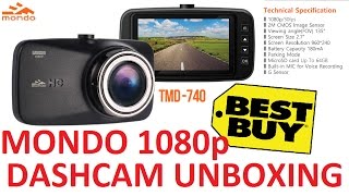 "Unboxing Review : Mondo Full HD 1080P 30FPS 135 Degree Dashcam with 2.7"" LCD Screen"