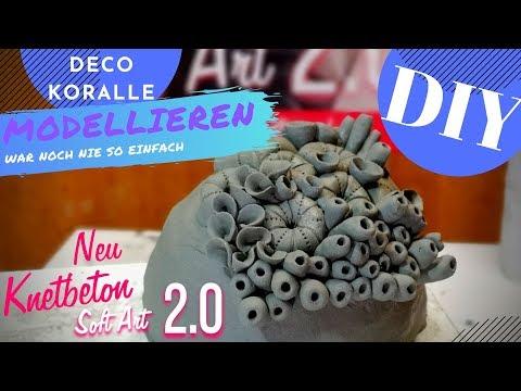 Kreative Inspirration DIY KORALLE Selbermachen Mit Knetbeton 2.0 Soft Art