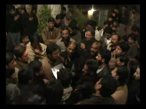 Hussaini Matmi Dasta Rawalpindi Aak Mal mal zainab at Qaiser Shah home 7 Muharam 2010.flv