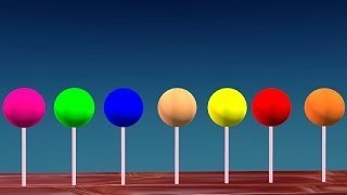 Learn Colors Lollipop Color Song For Children    3D Animation Rhymes vesves Songs For Children
