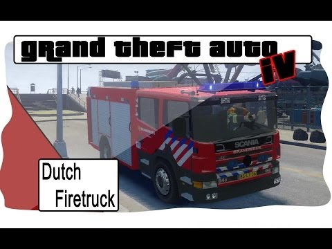 GTA 4 Scania firetruck Dutch