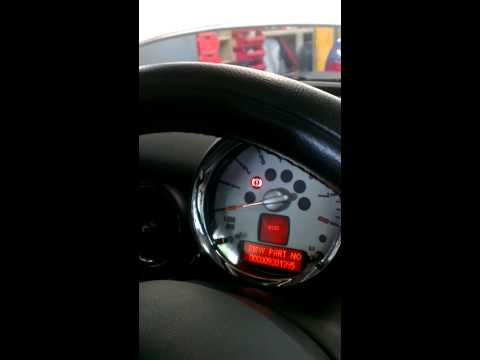 Mini cooper clubman engine light dash function