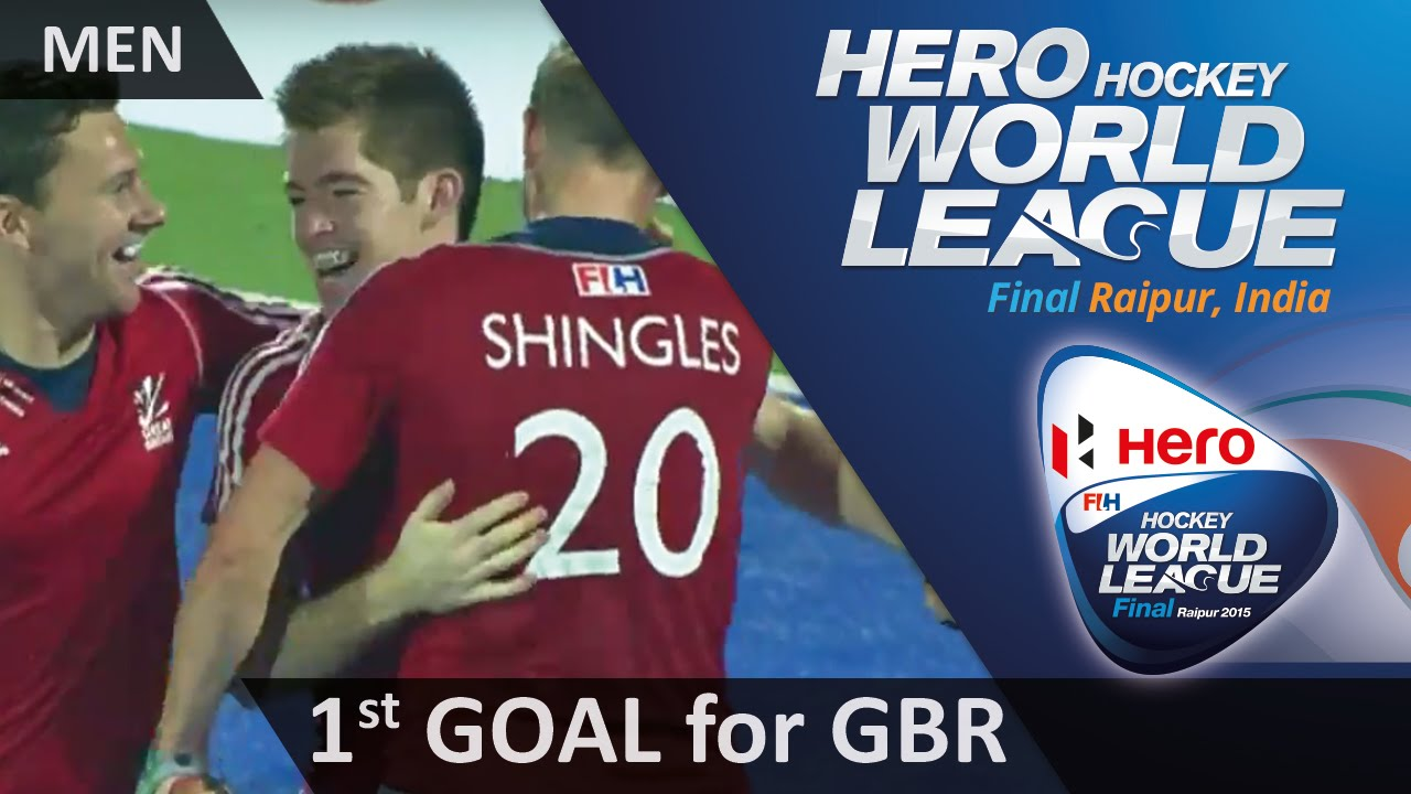 AUS 0-1 GBR Henry Weir opens the scoring for Great Britain #HWL2015 #Raipur