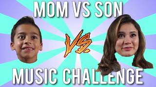 Mom Vs Son MUSIC CHALLENGE!!! Who Will Win????