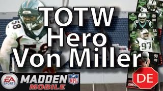 Madden Mobile 16 Team of the Week Hero Von Miller - Conference Championships TOTW Hero!!