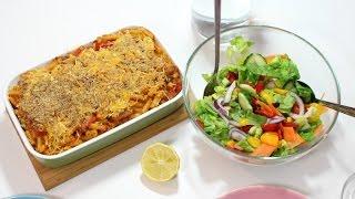 Vegan Three Cheese & Vegetable Pasta Bake   Quick & Easy