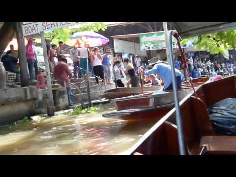 Bangkok floating market 2012