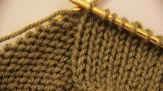 Knit Stitch Slow : How to Knit - Knit Stitch Beginner (with closed Captions CC). ????? ?? ???? ?...