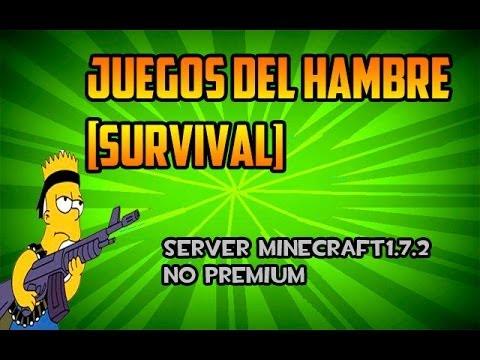 Review   Server Minecraft 1.7.2 No premium   Survival   Juegos del Hambre